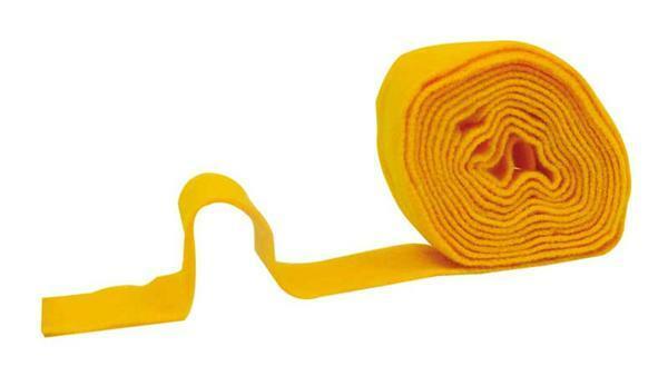 Viltband - 7 cm breed, geel