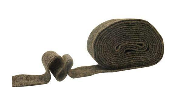 Filzband - 7 cm breit, dunkelgrau