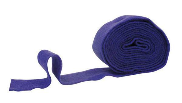Filzband - 7 cm breit, blau
