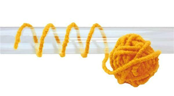 Cordon en feutrine - Ø 5 mm, jaune d'œuf