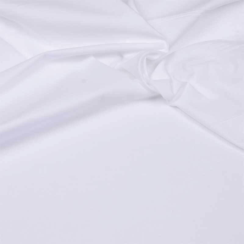 Katoenen stof - effen, wit