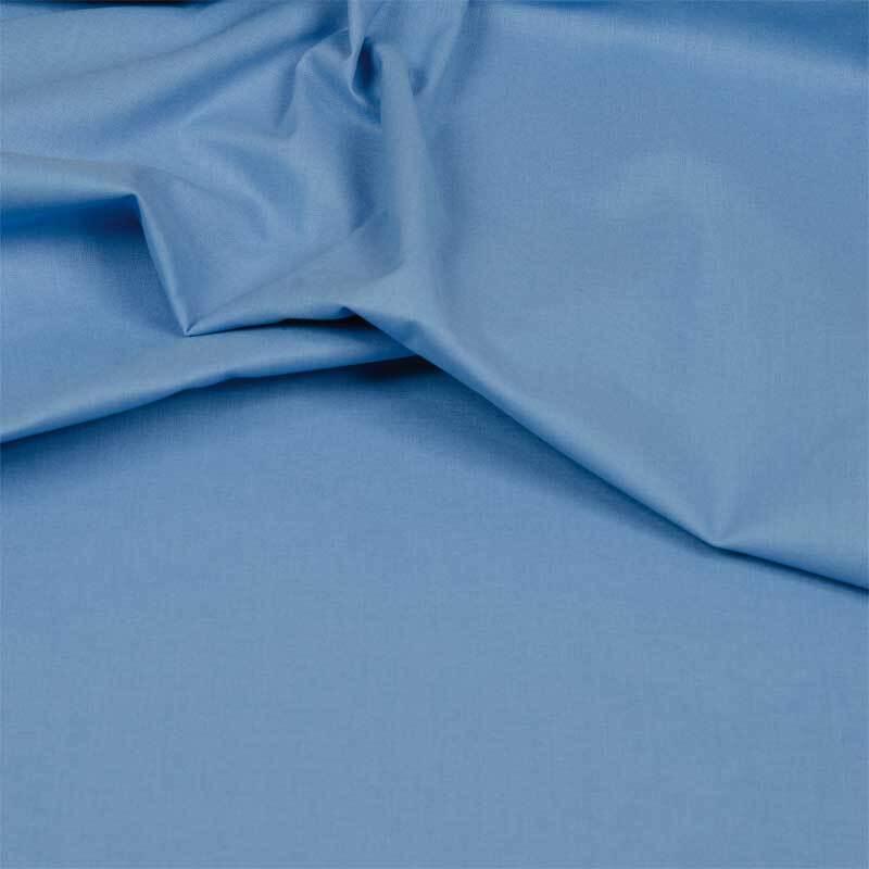 Katoenen stof - effen, lichtblauw