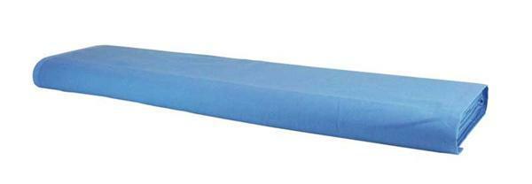 Baumwollstoff - uni, hellblau