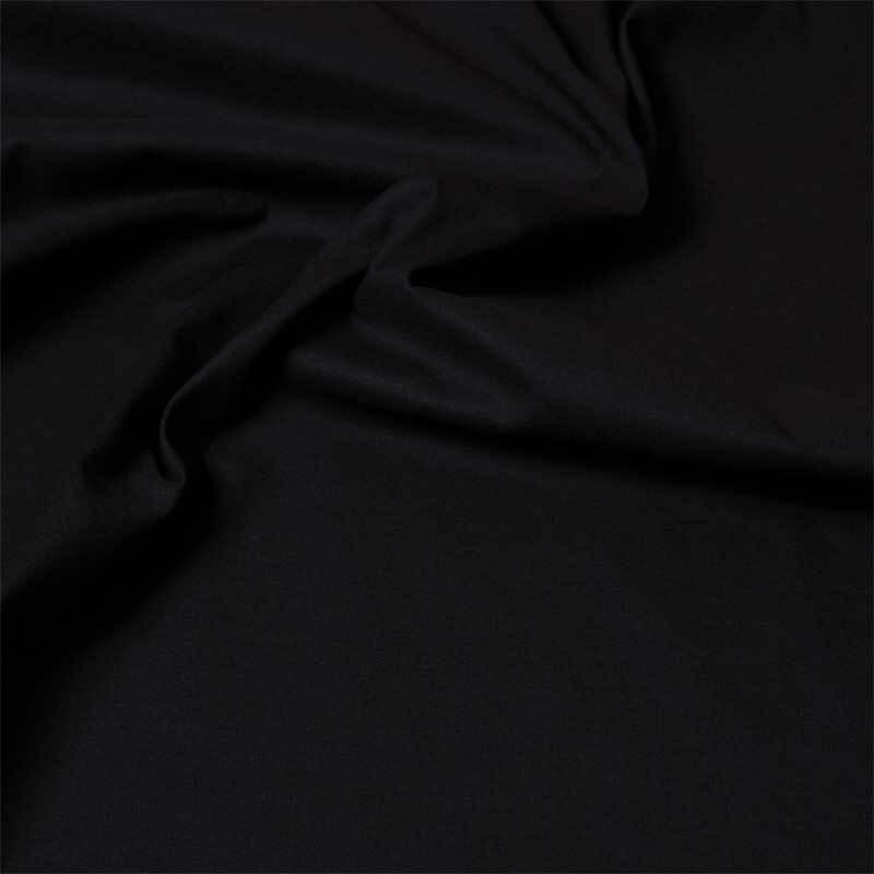 Baumwollstoff - uni, schwarz