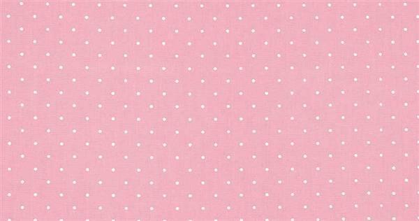 Katoenen stof - design, stippen roze/wit