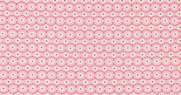 Katoenen stof - design, bloemen wit/roze