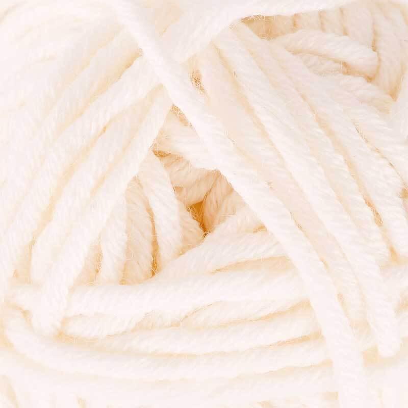 Wolle hatnut XL 55 - 50 g, weiß