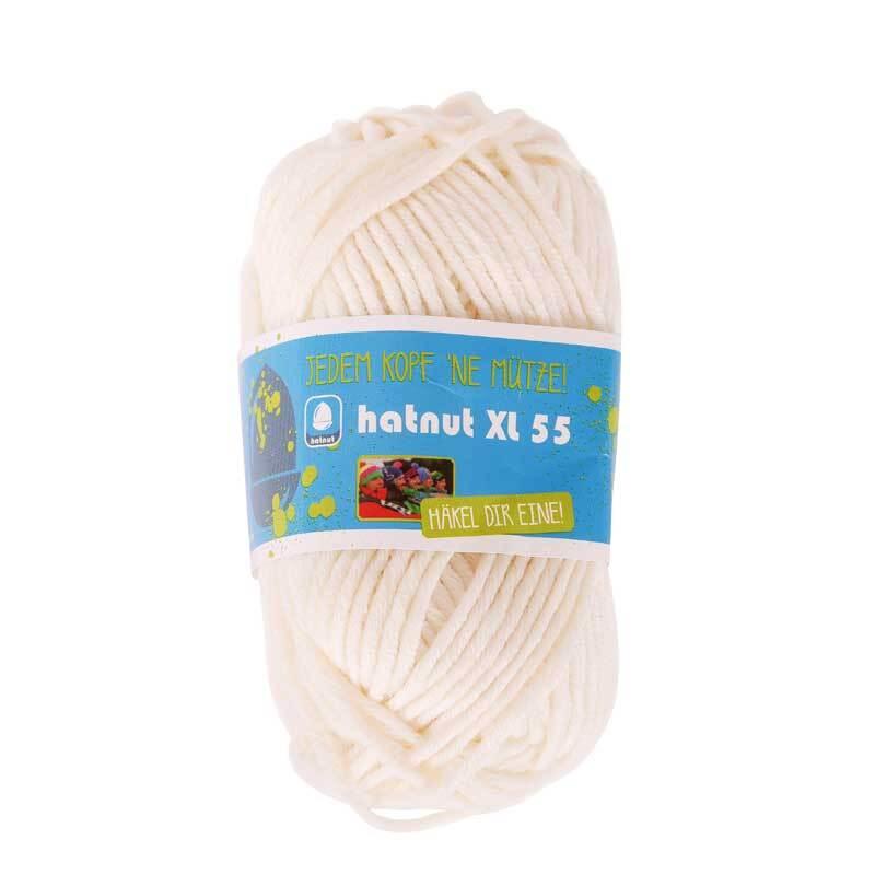 Wol hatnut XL 55 - 50 g, wit