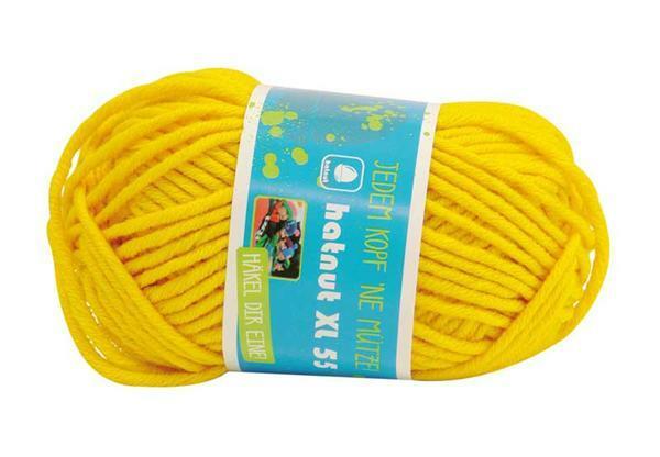 Wol hatnut XL 55 - 50 g, dottergeel