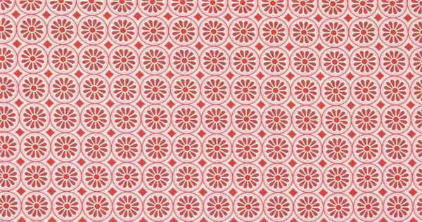 Katoenen stof - design, bloemen rood-roze