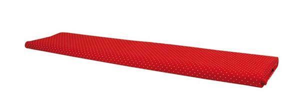 Katoenen stof - design, stippen rood/wit