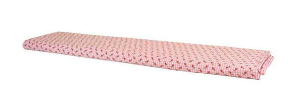 Katoenen stof - design, rozenpatroon roze