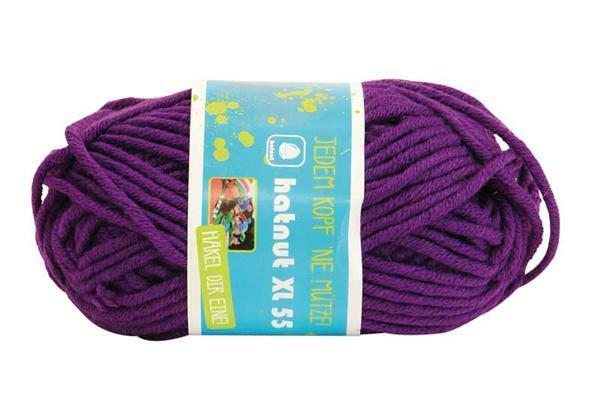 Wol hatnut XL 55 - 50 g, violet