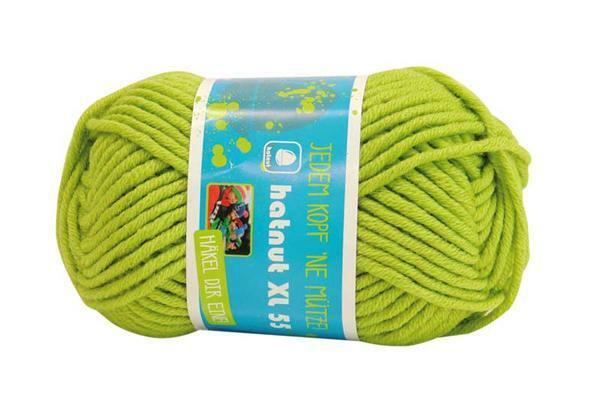 Wolle hatnut XL 55 - 50 g, hellgrün