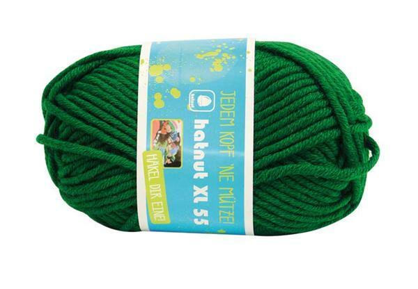 Wolle hatnut XL 55 - 50 g, dunkelgrün