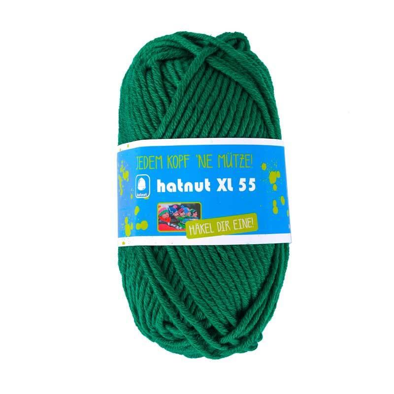 Wol hatnut XL 55 - 50 g, donkergroen