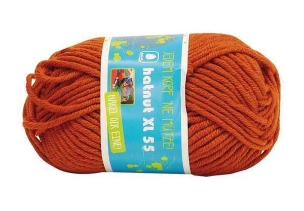 Wolle hatnut XL 55 - 50 g, kupfer