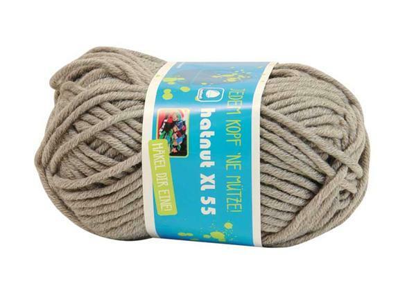 Wolle hatnut XL 55 - 50 g, hellgrau
