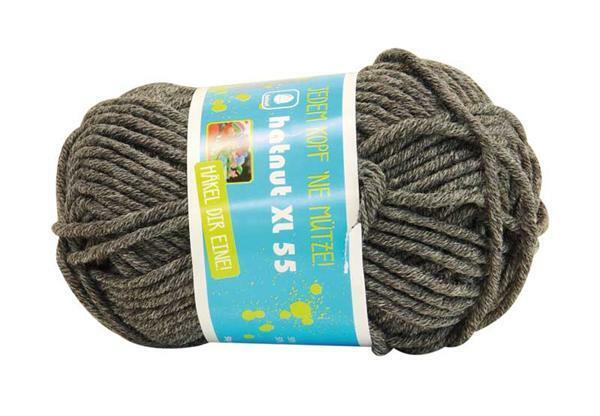 Wol hatnut XL 55 - 50 g, antraciet