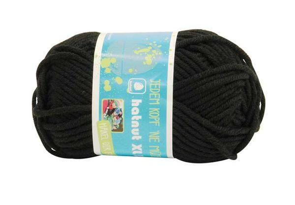 Wolle hatnut XL 55 - 50 g, schwarz