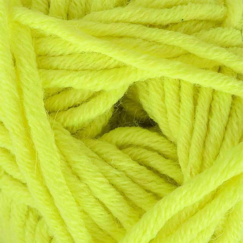 Wol hatnut XL 55 - 50 g, neongeel