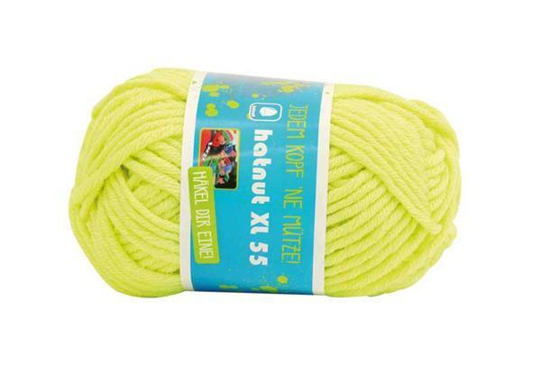 Wolle hatnut XL 55 - 50 g, neongelb