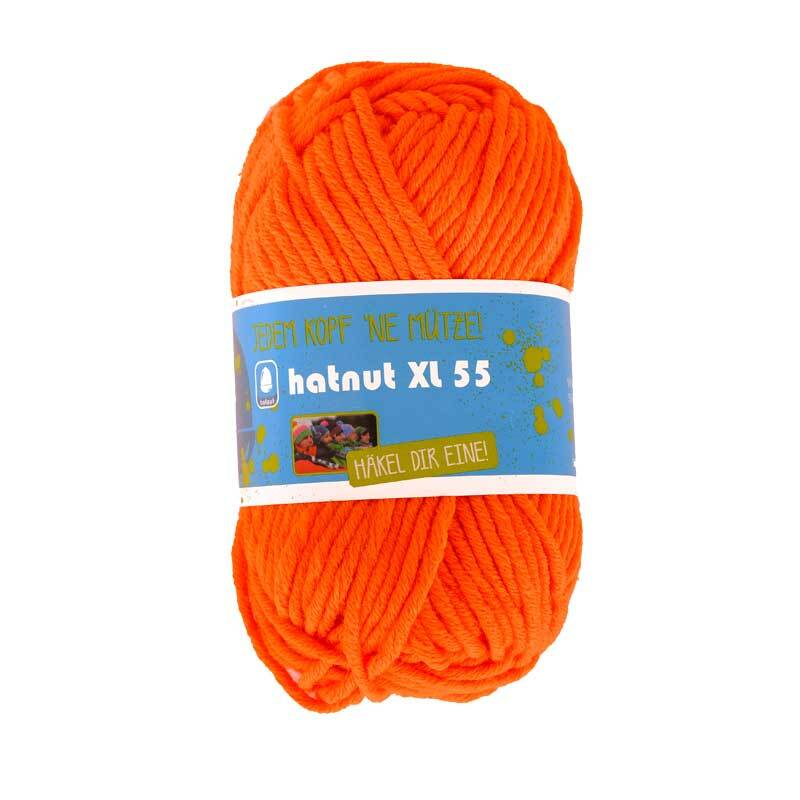 Laine Hatnut XL 55 - 50 g, orange néon