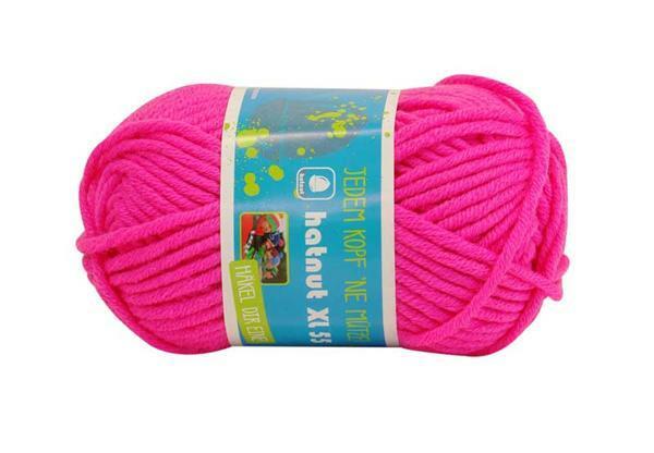 Wol hatnut XL 55 - 50 g, neonroze