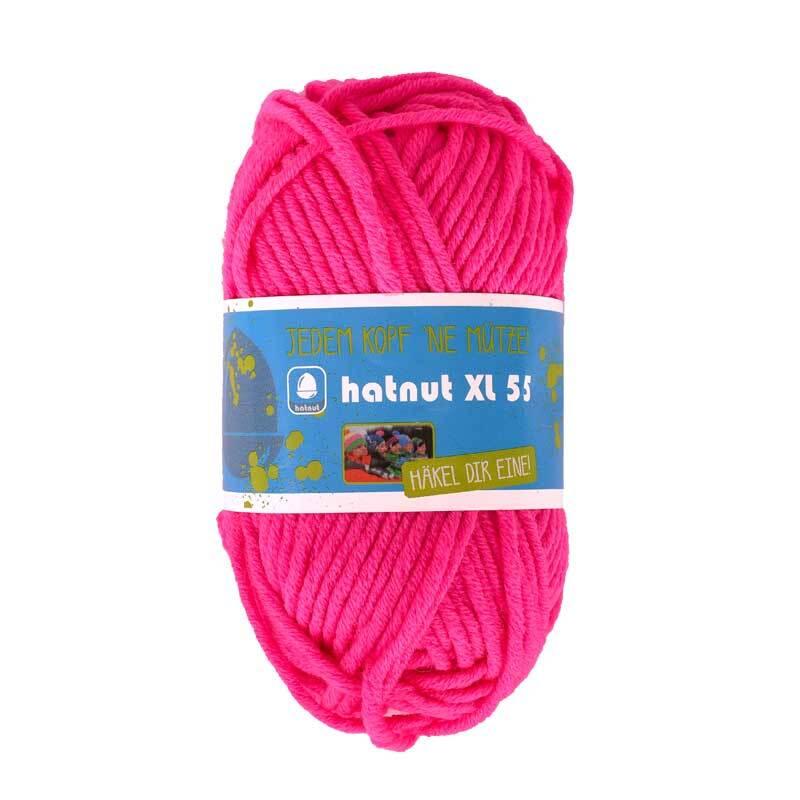 Wolle hatnut XL 55 - 50 g, neonpink