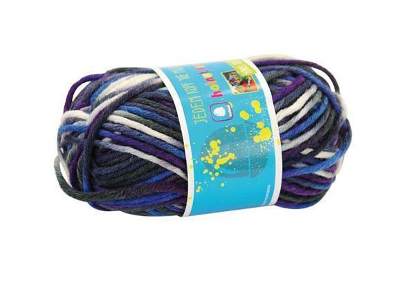 Wol hatnut fresh - 50 g, grijs-violet