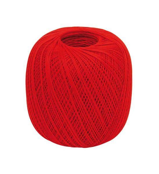 Fil à crocheter - n° 16, rouge clair