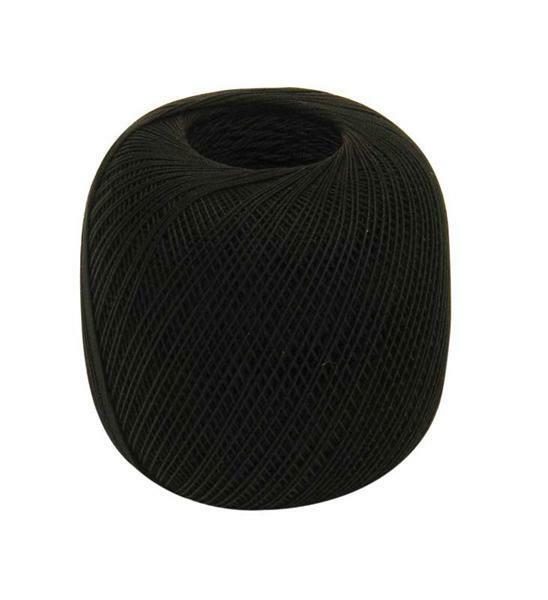Fil à crocheter - n° 16, noir