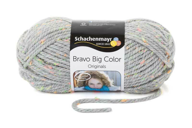 Laine Bravo Big Color - 200 g, tweed gris clair
