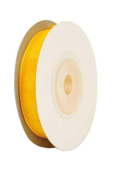 Organzaband, 10 mm - gelb