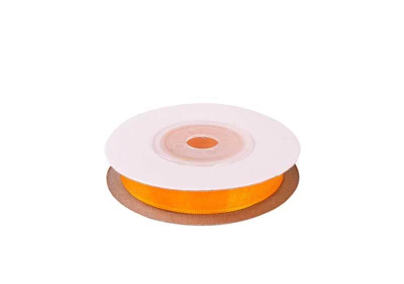 Organza lint - 10 mm, geel