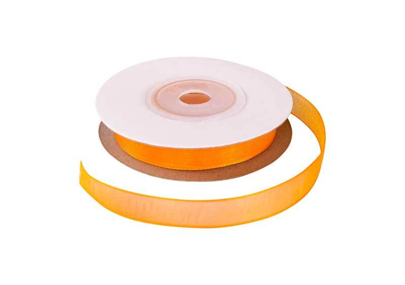 Ruban organza - 10 mm, orange