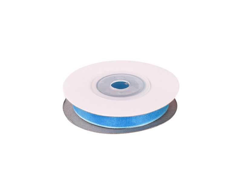 Ruban organza - 10 mm, bleu