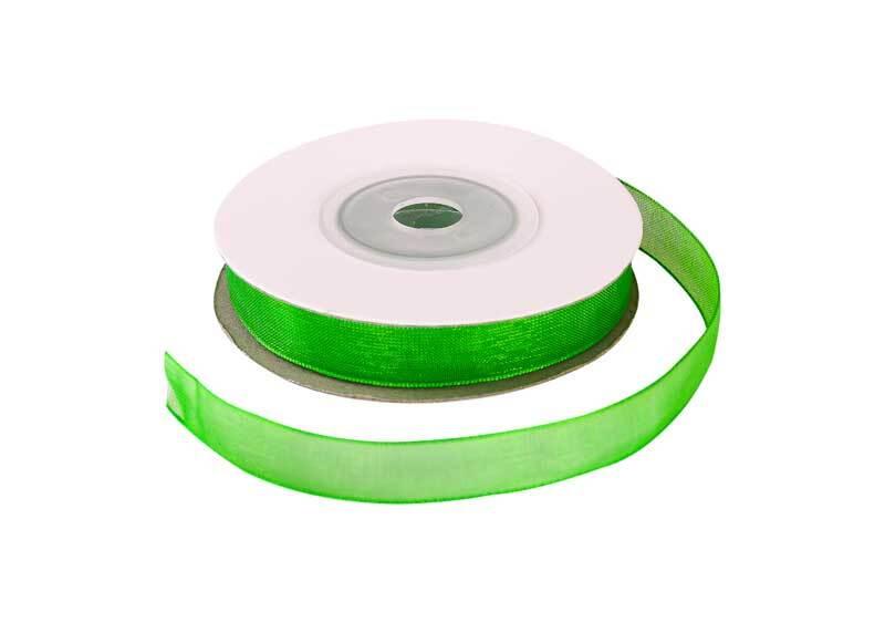 Organzaband, 10 mm - grün
