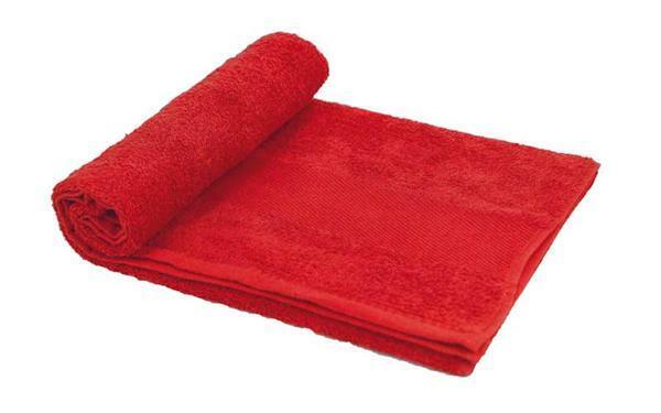 Handdoek - ca. 50 x 100 cm, rood