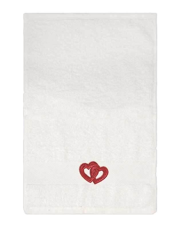 Gastendoekje/handdoek - ca. 30 x 50 cm, wit