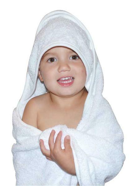 Baby Handtuch - ca. 75 x 75 cm, weiß