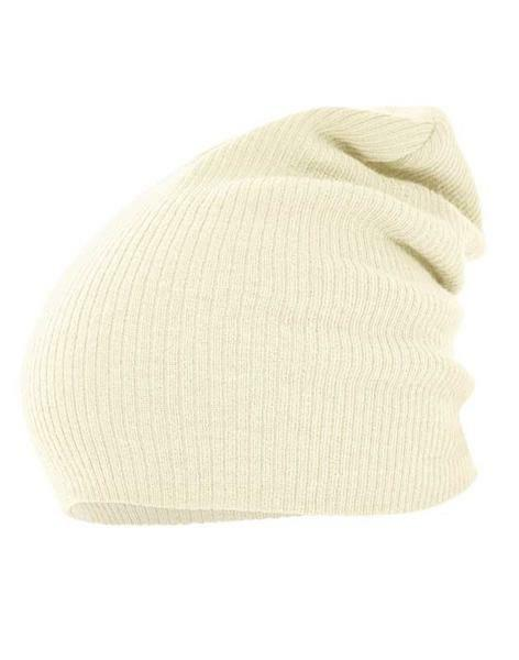 Beanie muts - one size, crème