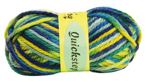 Laine Quickstep - 50 g, mélange bleu - jaune
