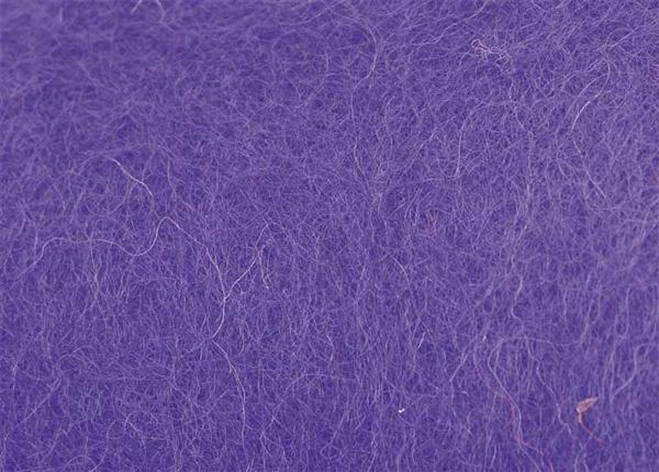 Laine cardée - 100 g, violet
