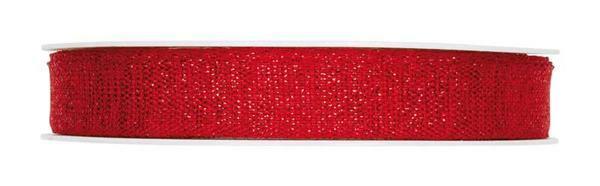 Ruban Lurex - 20 m, rouge