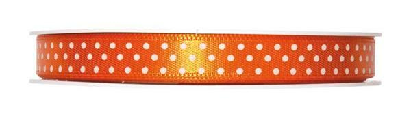 Satinband Punkte - 25 m, orange