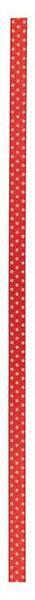 Satinband Punkte - 25 m, rot