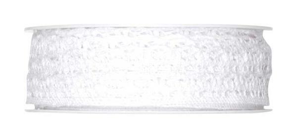 Häkelspitze - 10 mm, weiß