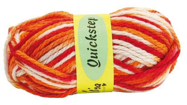 Wolle Quickstep - 50 g, Farbmix rot - orange