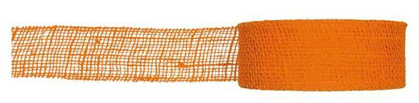 Ruban jute - 8 cm x 10 m, orange